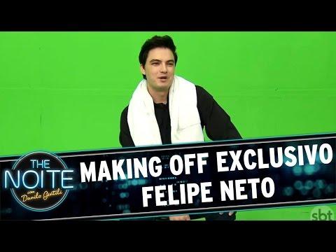 The Noite (02/09/16) - Making Off exclusivo - Felipe Neto