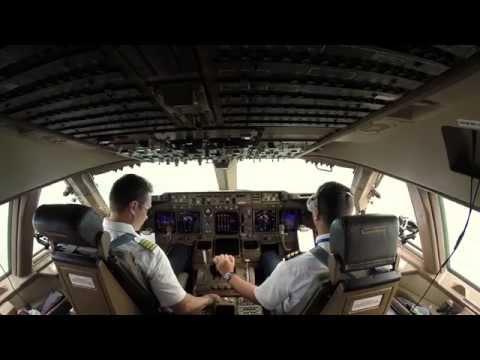 Boeing 747-400 - посадка во Внуково