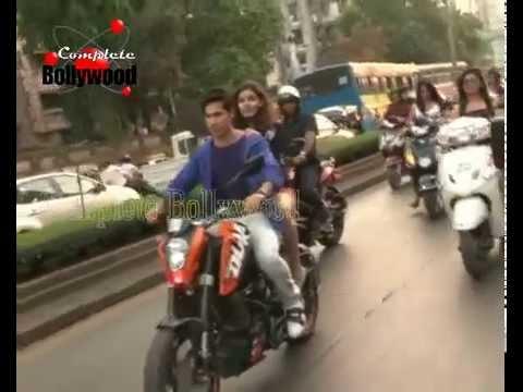 Varun Dhawan & Ekta Kapoor enjoy a bike ride for 'Main Tera Hero'  1