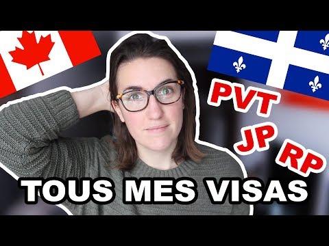 TOUS MES VISAS POUR VIVRE ET TRAVAILLER AU QUÉBEC/CANADA DEPUIS 5 ANS   CAM C'est Elle