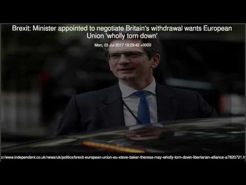 Brexit Minister appointed to negotiate Britain