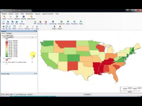 Introduction to GIS Two: Adding Data and Making Chloropleth Map