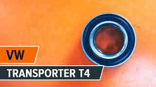 Montera Hjullager fram vänster höger VW TRANSPORTER IV Bus (70XB, 70XC, 7DB, 7DW): gratis video