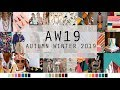 AUTUMN WINTER 2019 FASHION TRENDS & COLOURS