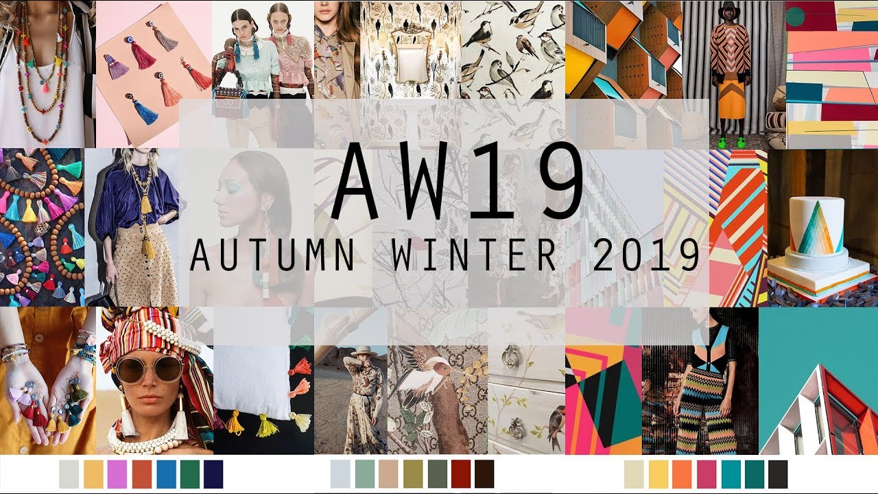 Autumn Winter 2019 Fashion Trends Colours Youtube