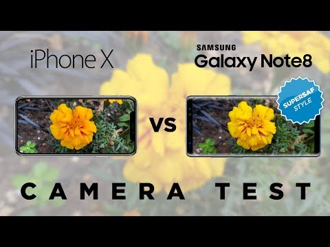 iPhone X vs Galaxy Note 8 Camera Test Comparison