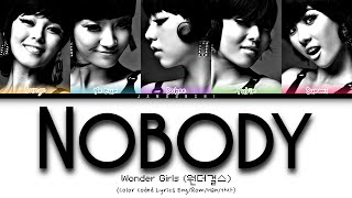 Wonder Girls (원더걸스) - Nobody (Color Coded Lyrics Eng/Rom/Han…