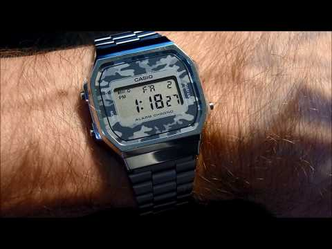 68c3b263b593 Casio Unisex Gold Digital Alarm Watch A168WG-9WDF - YouTube