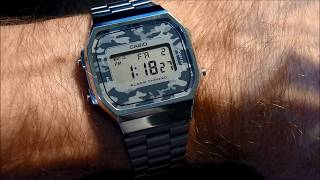 Casio A168 how to set time and date