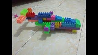 cara membuat pesawat kecil dari lego