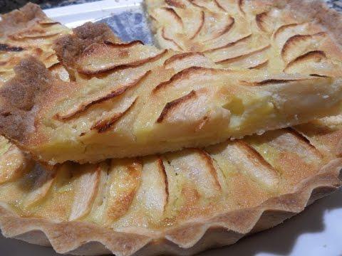 Tarte au pomme...تارت التفاح بسيطة ولذيذة