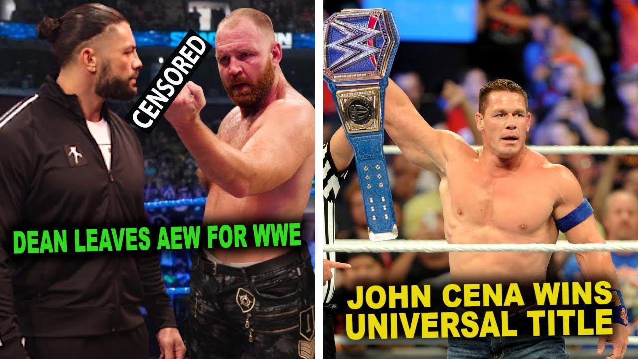 John Cena Wins Universal Title Leaked...Dean Ambrose Secretly Leaves AEW & Returns To WWE...WWE News