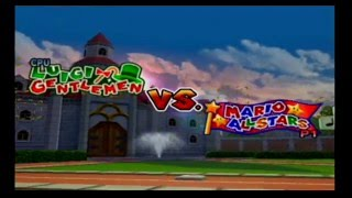 Mario Superstar Baseball Exhibition Game 12 - Mario All Stars VS Luigi Gentlemen