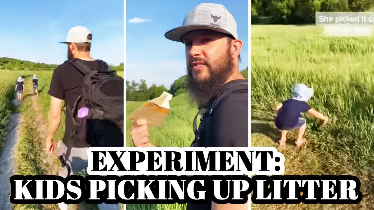 EXPERIMENT: Kids picking up litter #shorts