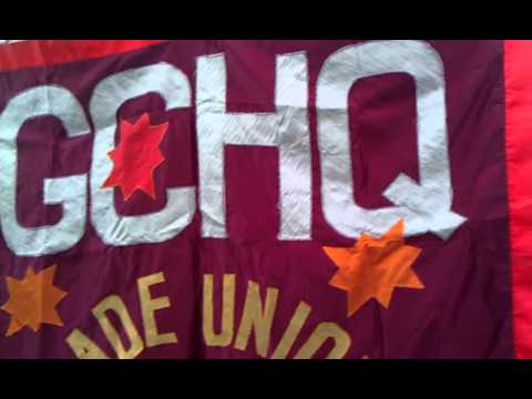 Trade unions at GCHQ - banner