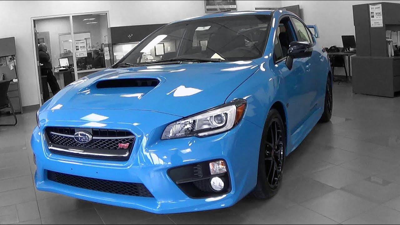 2016 Subaru WRX STI SeriesHyperBlue Review YouTube