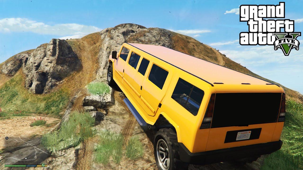 ☆ GTA 5 Stretch Hummer Limo f Roading 4x4 f Roading