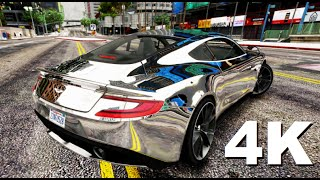 GTA V REAL 4K CHROME PAINT + Aston Martin Vanquish 2015 4k