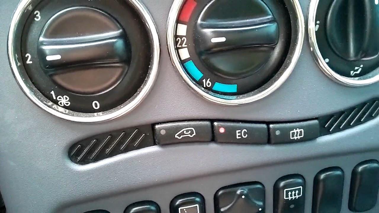 Mercedes W168 A Klasse Klimaanlage aus und einschalten ...