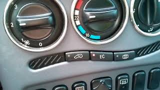 Mercedes W168 A Klasse Klimaanlage aus und einschalten