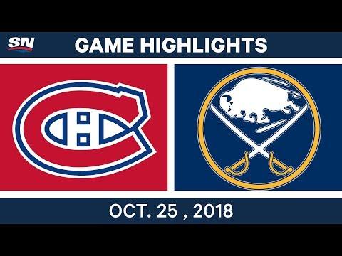 NHL Highlights | Canadiens vs. Sabres - Oct. 25, 2018