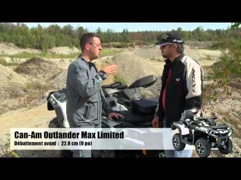 Ams - Action moteur sport - Vtt - Essai Can-Am Outlander 1000 Max Limited 2014 et Honda Fourtrax 250