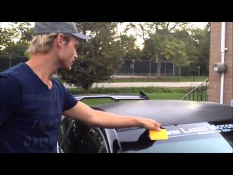 How to Vinyl Roof Wrap your 4G Mitsubishi Eclipse with sunroof. By @CKWRAPS