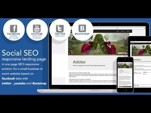 Social SEO responsive landing page based on facebook - YouTube
