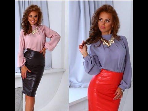 Юбка с завышенной талией и блузка фото