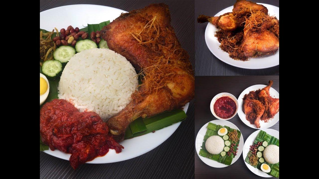 Resepi Nasi Lemak Ayam Goreng Berempah Step By Step   Dari Dapur - YouTube