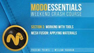 Modo Essentials Crash Course  Mesh Fusion Applying Materials