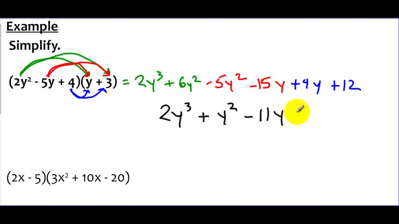 8 3 Example 2 Multiplying A Binomial And A Trinomial