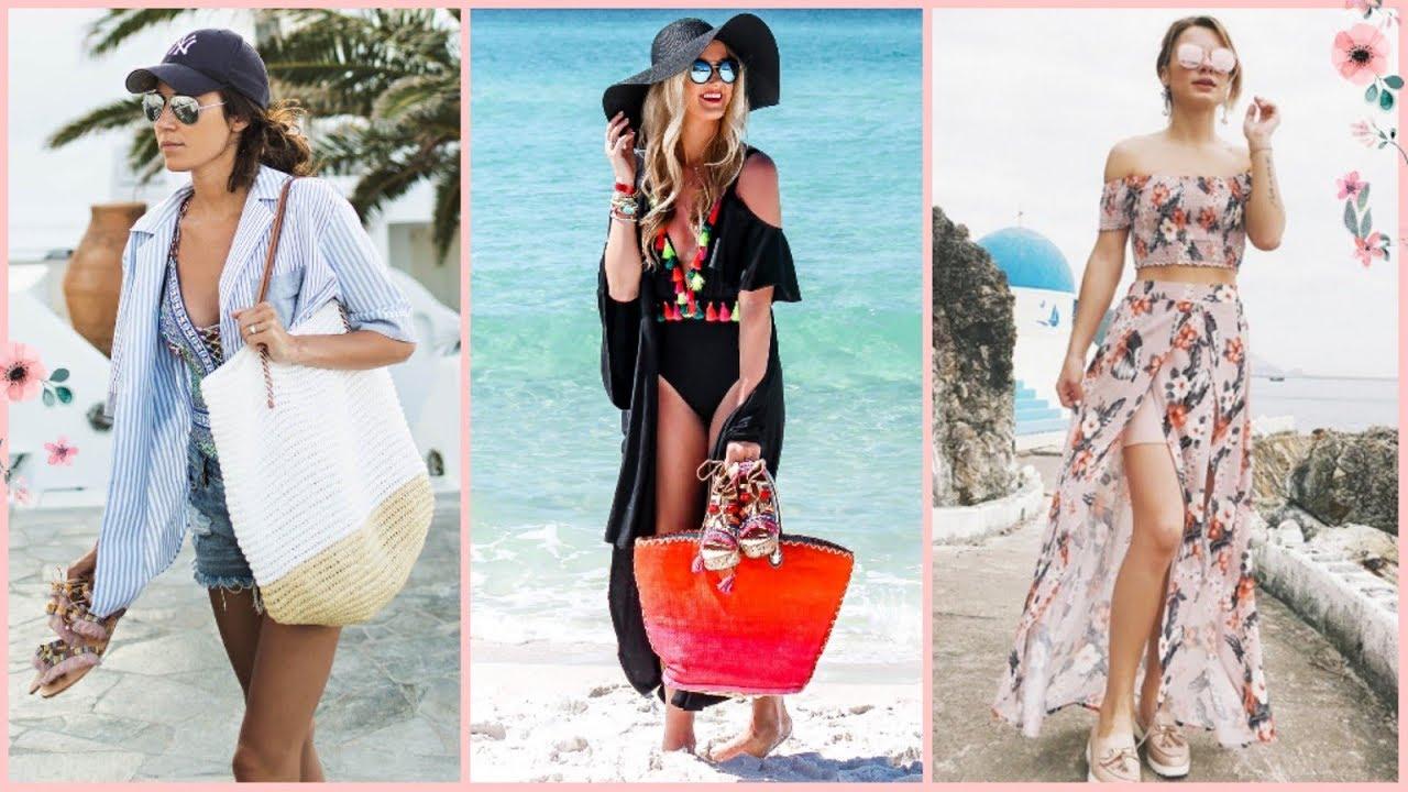 Outfits Playeros De Verano 2019 2020 Moda Mujer Comoda Y Elegante Para Playa Y Piscina Youtube