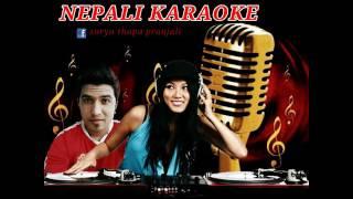 """Nepali Lok track karaoke song """"बग्यो खोली सागर भेट्न लाई"""""""