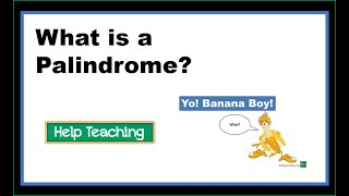 Vocabulary Lesson: What is a Palindrome?
