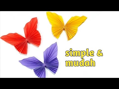 Repeat Cara Membuat Kupu Kupu Dari Kertas Origami Butterfly