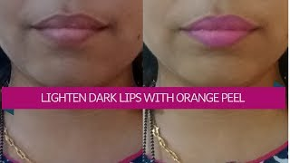 How To GET PINK LIPS & LIGHTEN DARK LIPS | DIY orange peel lip scrub for pink lips|jyoti rahate