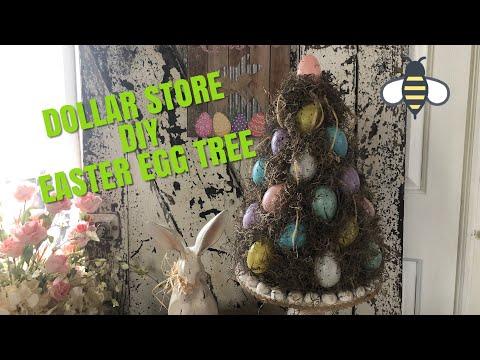 Dollar Store DIY Easter Egg Tree