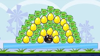 Angry Birds Bomber Hacked 1 - KICK ALL PIGS AND SAVE GOLDEN EGG!