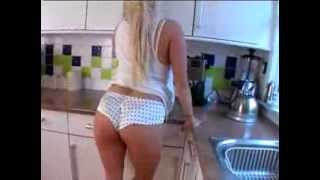 Repeat youtube video Curvy blonde lingerie hottie