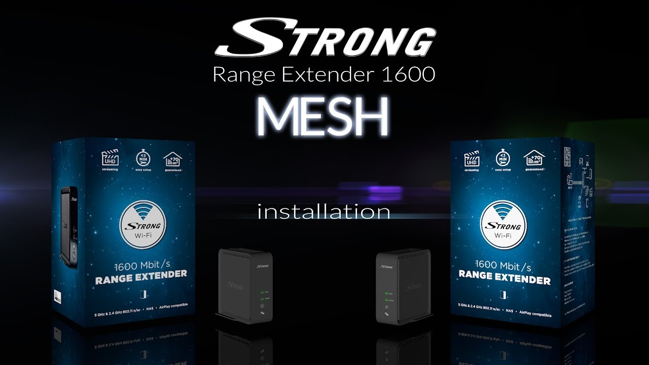 How To Install Strong Range Extender 1600 Wi Fi Mesh Solution Youtube