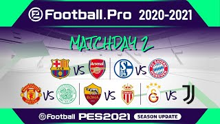 PES | eFootball.Pro 2020-2021 | MATCHDAY 2 | FC Barcelona vs Arsenal FC (Featured Match)