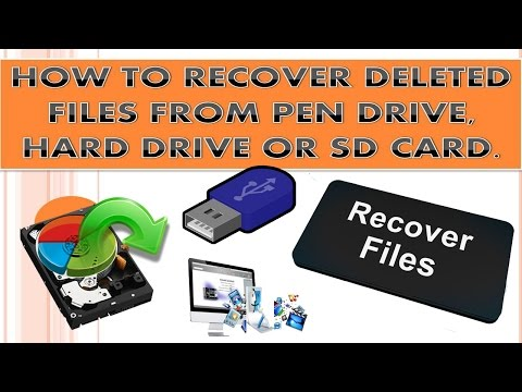 How to Recover Deleted Files from USB, SD card or From External hard disk?