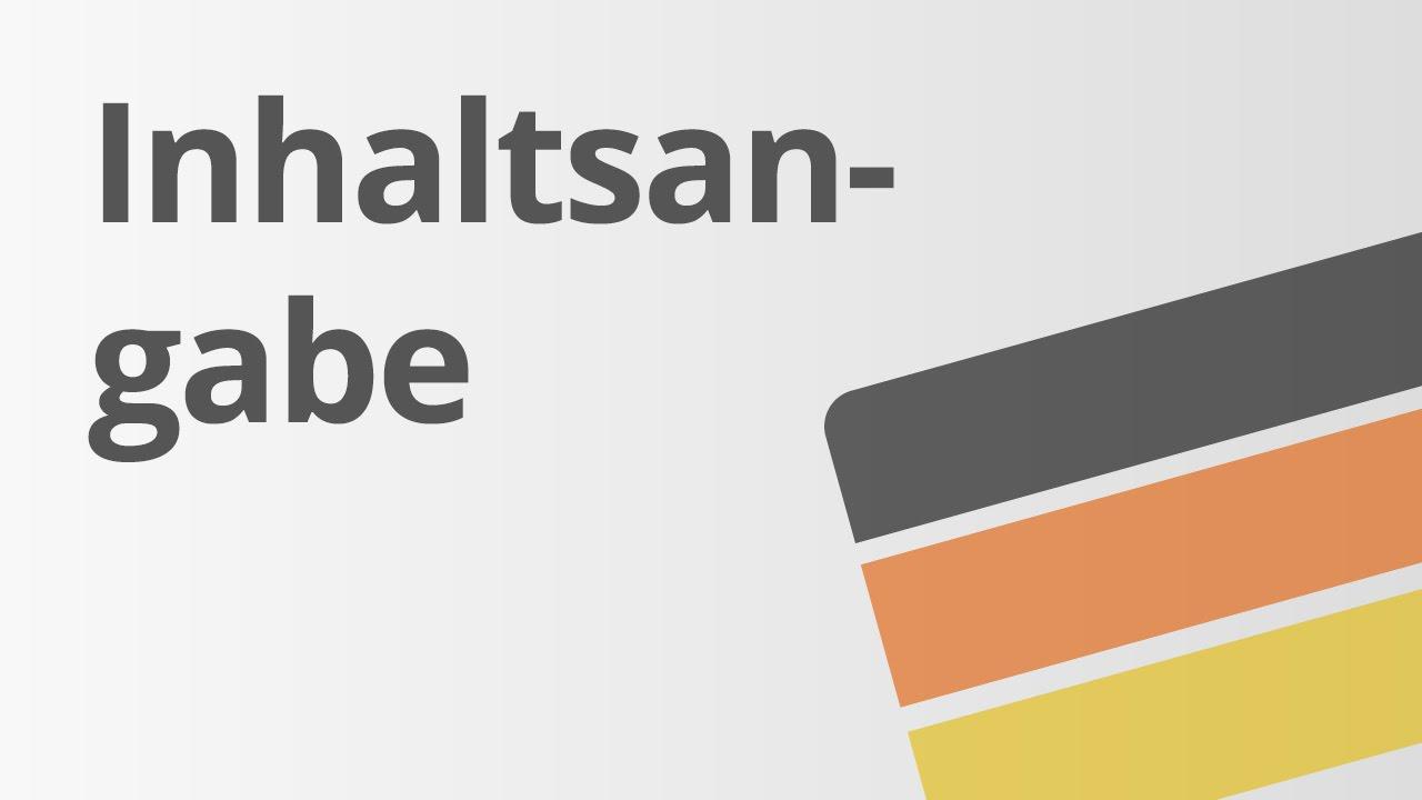 Deutsch Textformen Die Inhaltsangabe Deutsch Textsorten Und