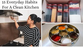 15 Everyday Habits For A Clean And Organized Kitchen