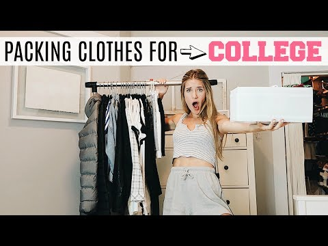 HOW TO PACK YOUR CLOSET FOR COLLEGE! WHAT TO & NOT TO BRING!
