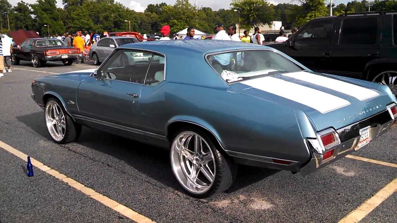 1971 Cutlass Supreme On 22 Inch Budniks Staggered Youtube