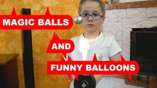 Kids challenge-DAVID AND LITTLE MARK  PLAY WITH FUNNY BALLUNS AND MAGIC BALLS-FUNNY VIDEO WITH KIDS