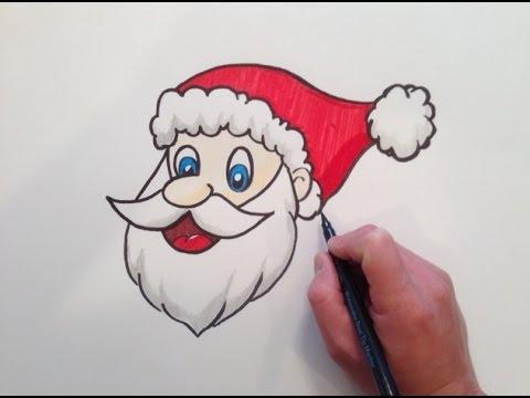 How To Draw Santa Claus Head Youtube
