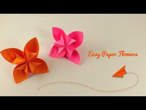 Easy Paper FLower   DIY Paper Flowers   How To Make a Kusudama Paper Flower